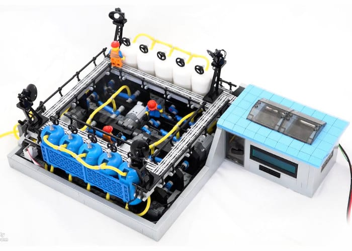 Arduino project LEGO pneumatic compressor.