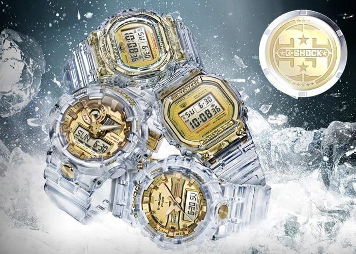 Casio G-Shock Glacier Gold watch collection