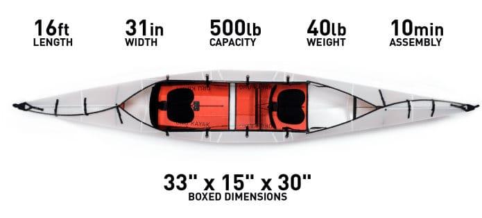 Oru Kayak Haven origami tandem folding canoe - Geeky Gadgets
