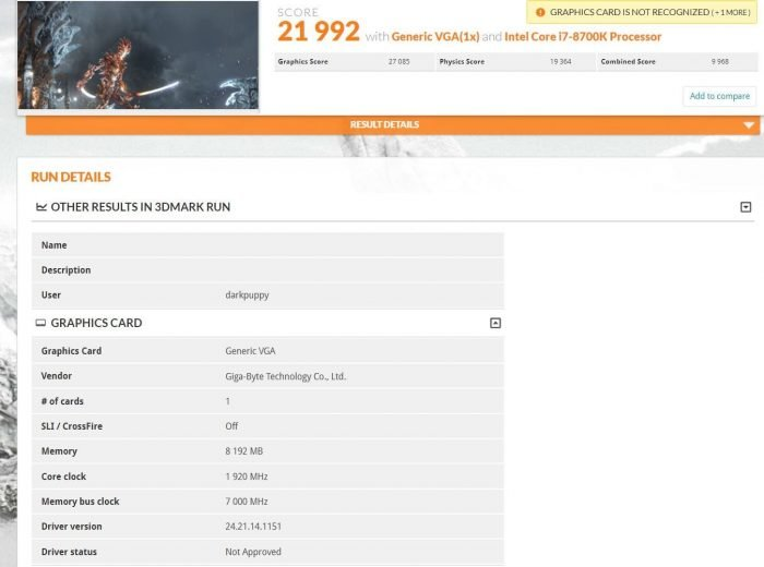 NVIDIA GeForce RTX 2080 3DMark Time Spy and Fire Strike scores leak