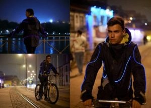 MUSGO illuminated TRON style jacket gets you seen at night