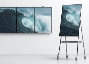 Microsoft Surface Hub 2 rotating display demonstrated