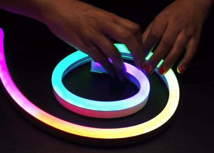 NeoPixel RGB Neon-like LED Flex Strip - Geeky Gadgets