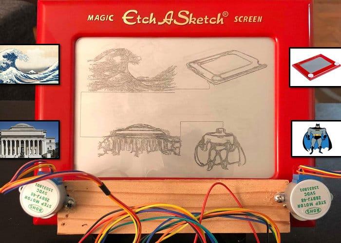 Raspberry Pi powered Etch-a-Sketch