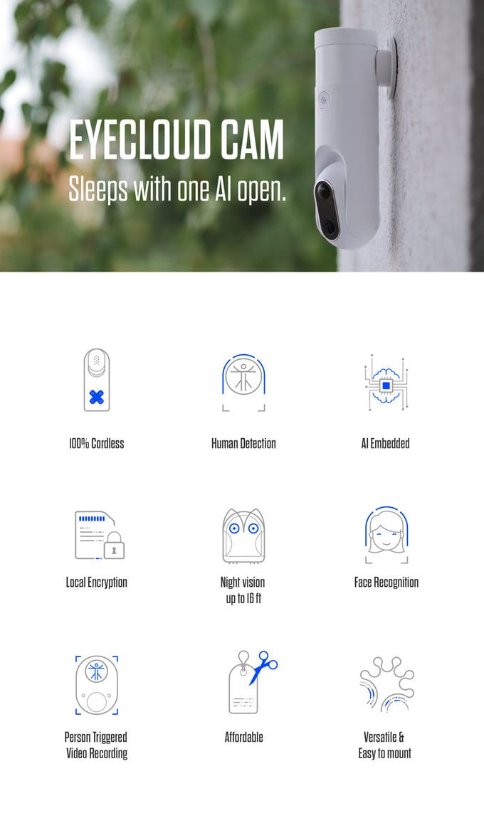 Eyecloud cam wireless home security camera geeky gadgets for Camera email