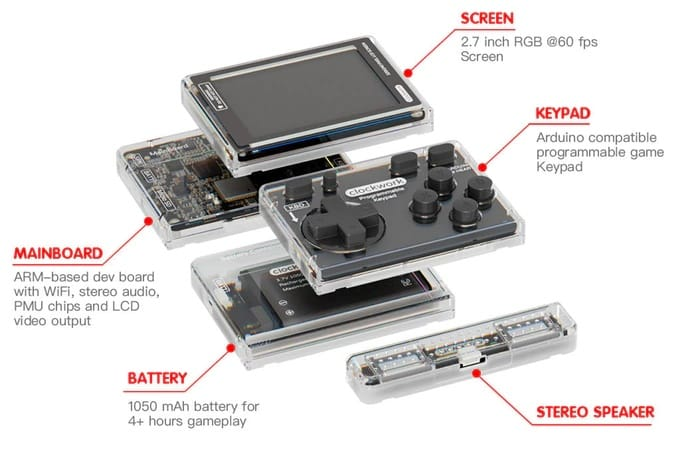 Pocket games console