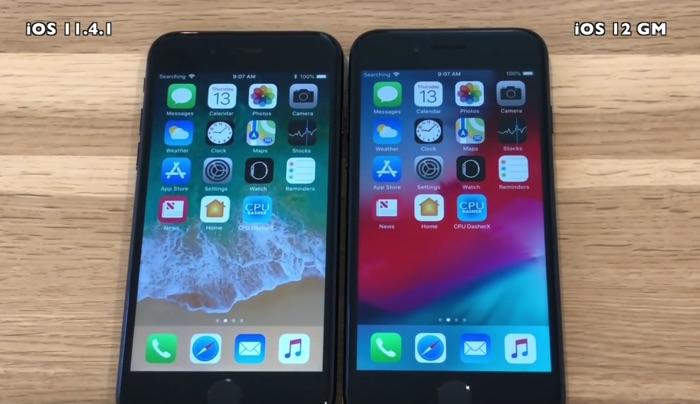 iOS 11.4.1 vs iOS 12