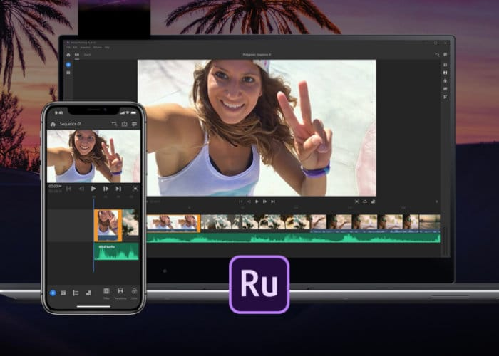 Adobe Premiere Rush CC YouTube video editing app