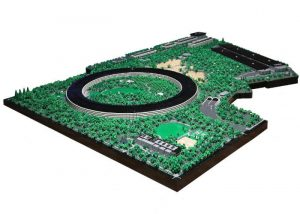LEGO Apple Park model created by Spencer R