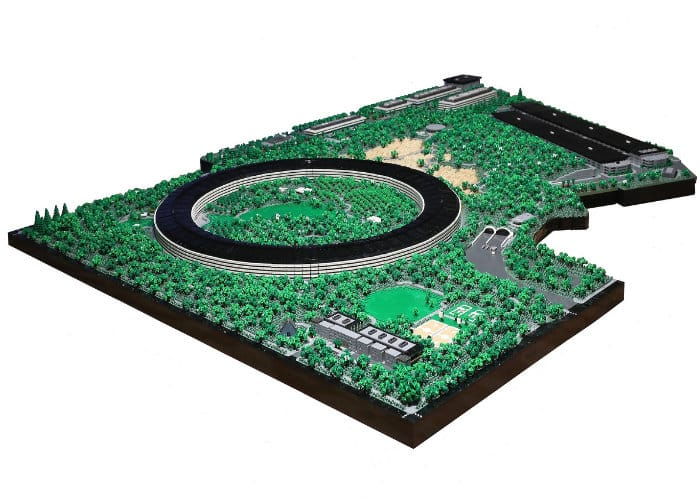 Apple Park modelled in LEGO