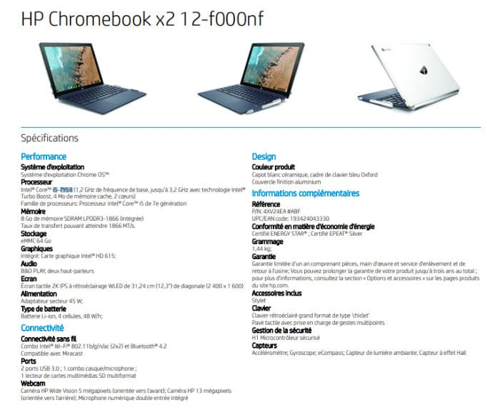 HP Chromebook x2 core i5