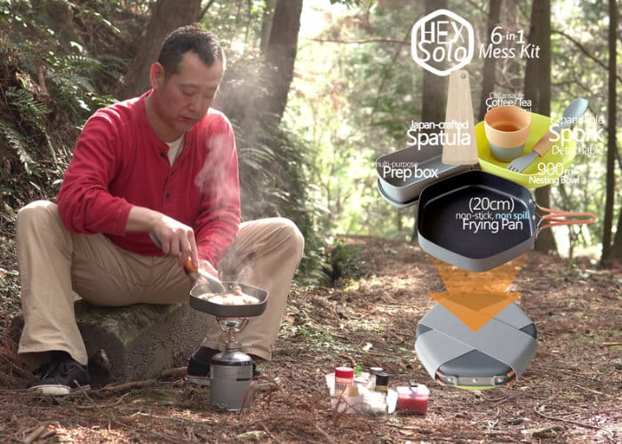 Hex Solo 6-in-1 lightweight minimal camping mess kit