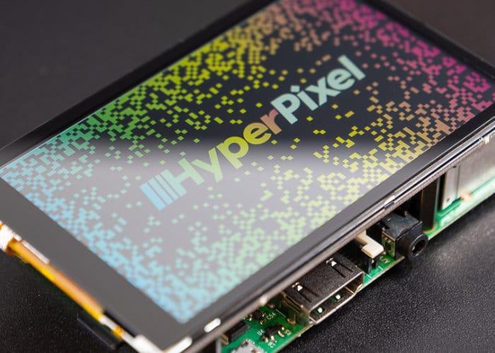 Raspberry Pi HyperPixel 4.0 high resolution touchscreen display