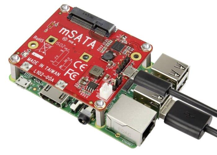 Raspberry Pi USB to mSATA