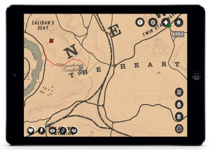 Red Dead Redemption 2 map companion app