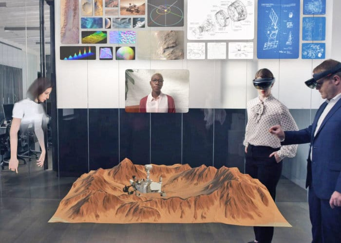 Spatial augmented reality collaboration