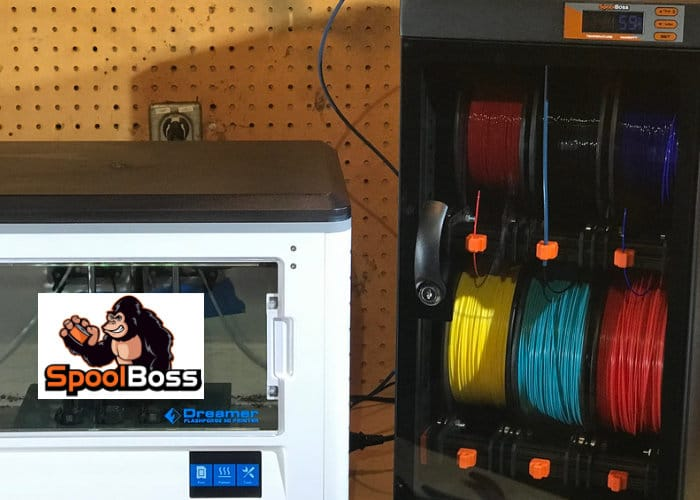 SpoolBoss 3D printer filament storage solution