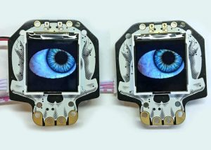 Synchronised HalloWing spooky eyes project