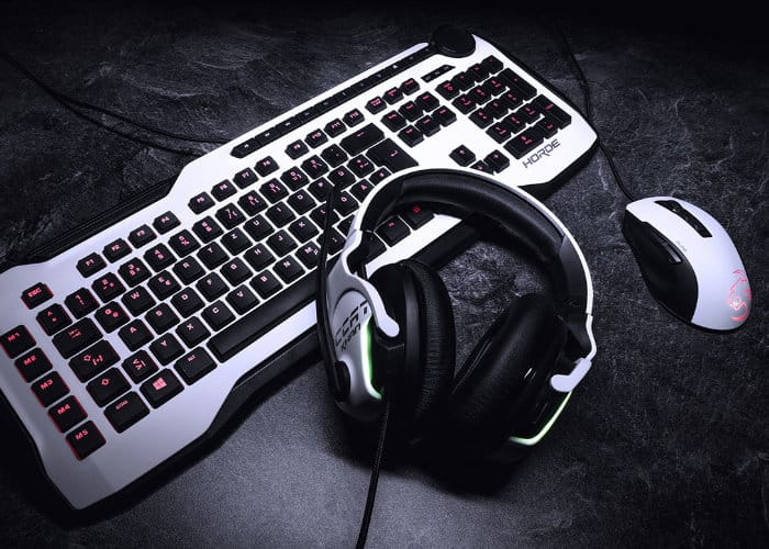 White gaming gear