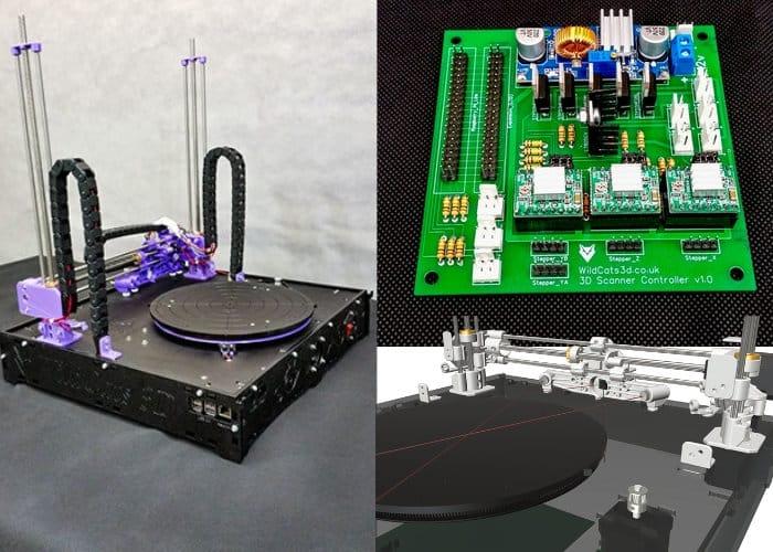 Wild Cats 3D MKII high resolution 3D scanner