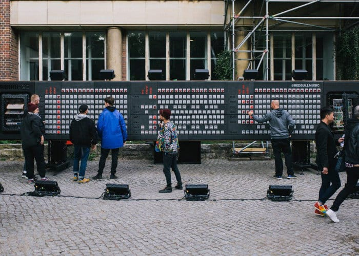 World's largest step sequencer created by Red Bull
