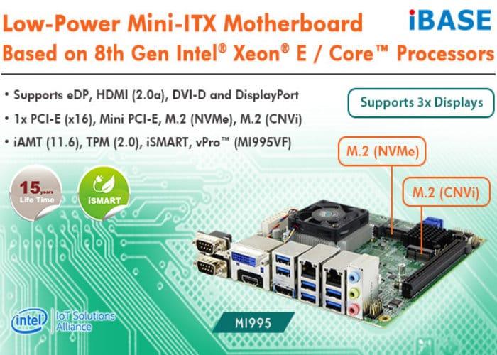 iBase MI995 Mini-ITX Intel Xeon E / Core motherboard announced