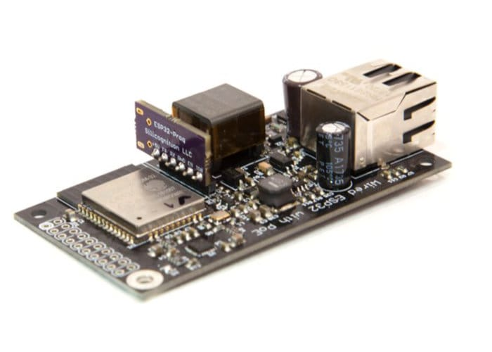 wESP32 board with wired and power over Ethernet