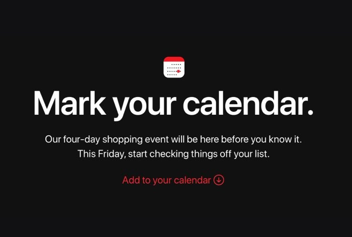 apple announces four day shopping event starting on black friday geeky gadgets. Black Bedroom Furniture Sets. Home Design Ideas