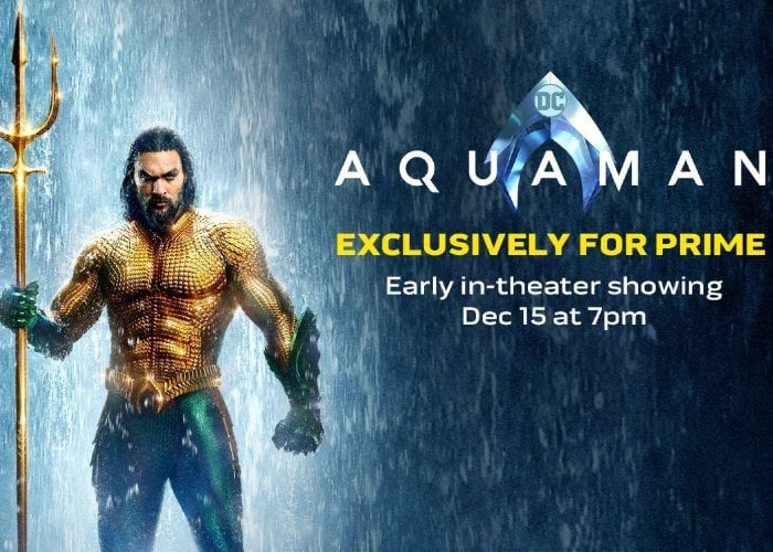Aquaman Available to Amazon Prime