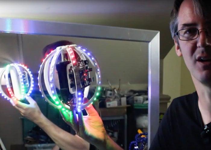 DIY gyroscopically controlled RGB LED ball