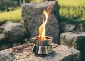 Ember pocket stove with fire vortex