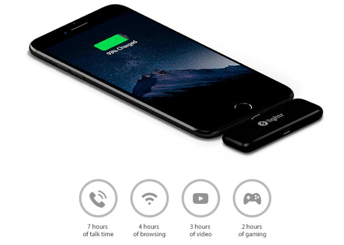 Lightr pocket smartphone battery