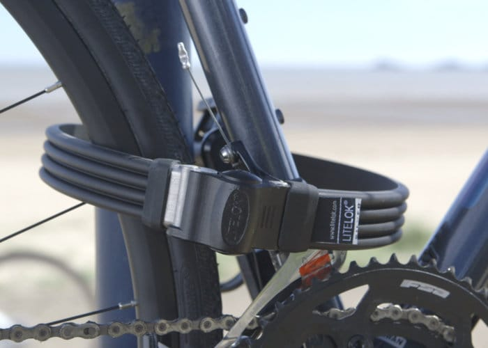 Litelok Silver bicycle lock