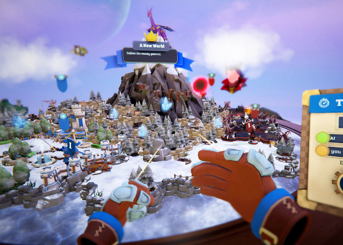 PSVR Skyworld strategy game