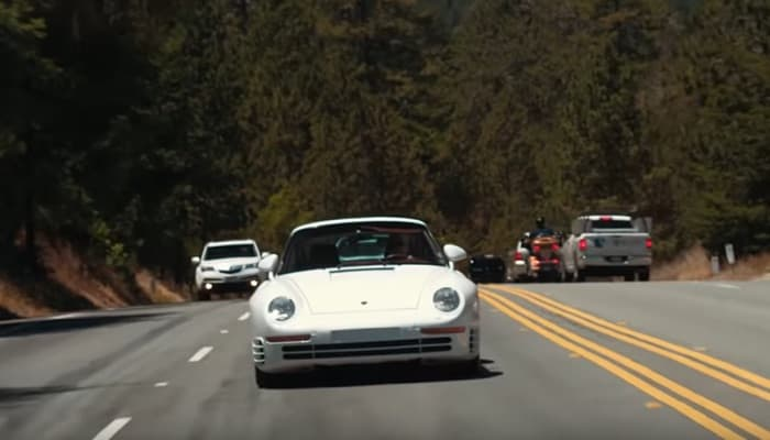 Porsche 959 shown off on video