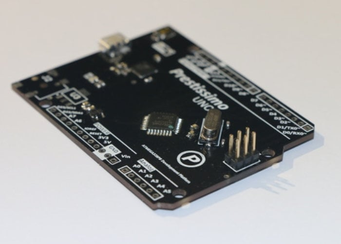 Prestissimo Uno+ Arduino dev board
