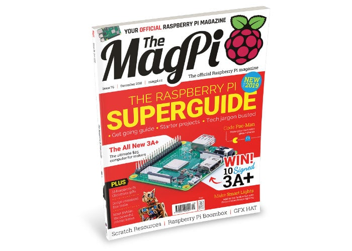 Raspberry Pi superguide in MagPi magazine issue 76