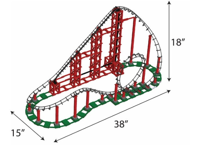 Sidewinder LEGO compatible rollercoaster