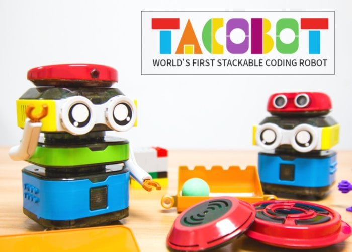 TacoBot robot teaches kids to code