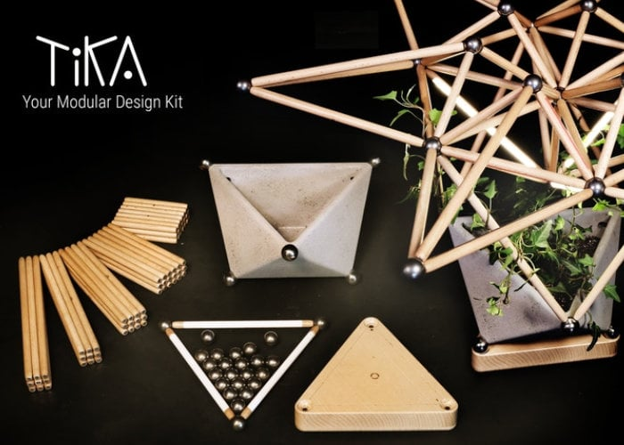 TiKA modular design kit conducts electricity