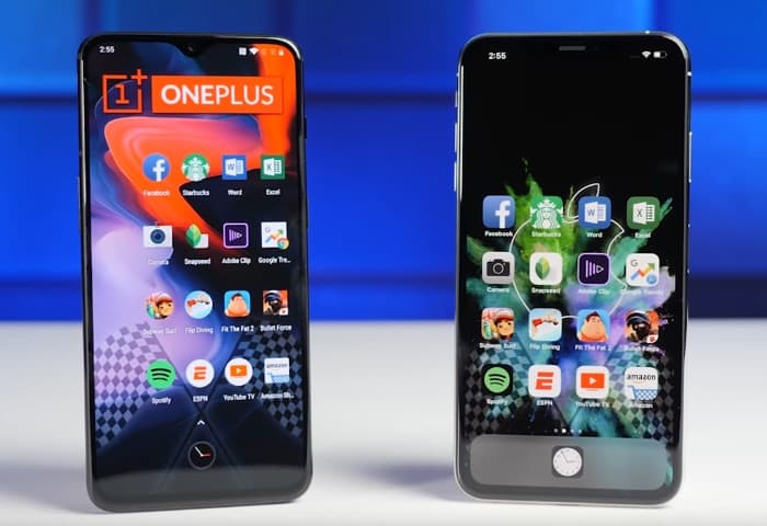 onePlus 6T vs iPhone XS Max
