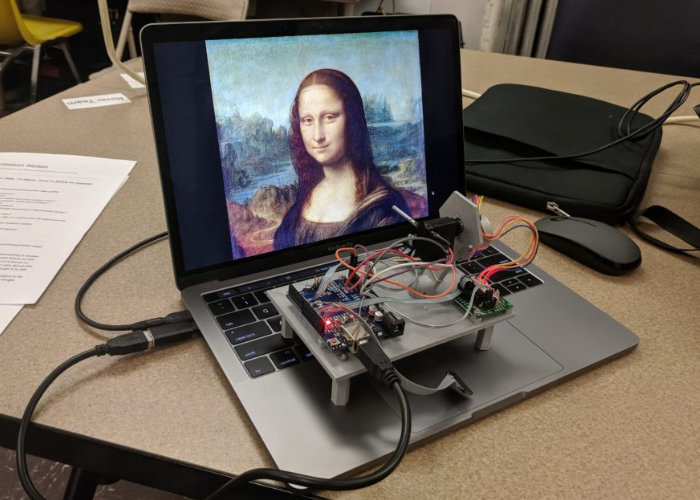 Arduino powered single-pixel scanning camera