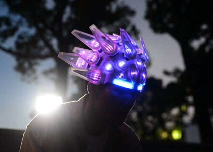 Awesome Automaton LED cycling helmet