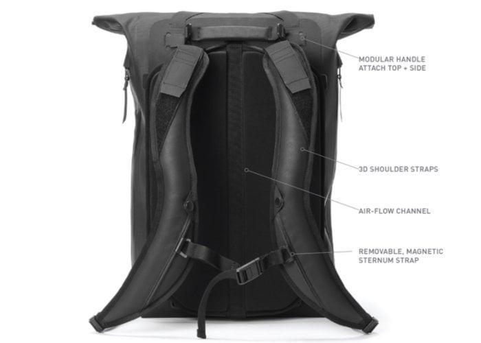 Black Ember waterproof everyday backpack