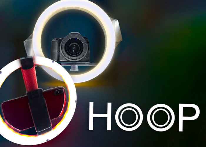 HOOP ring light and camera stabiliser