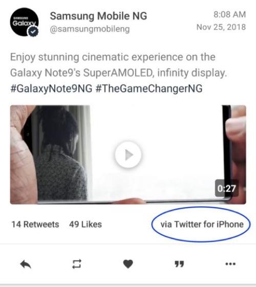 Official Samsung Twitter