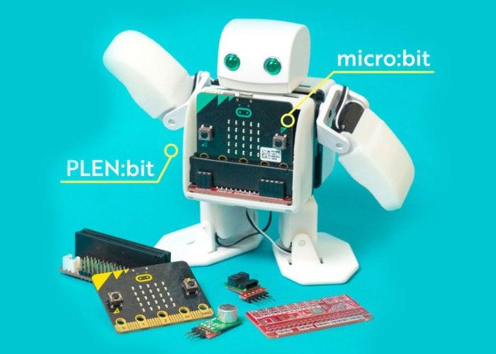PLEN:bit sensor controlled micro:bit robot