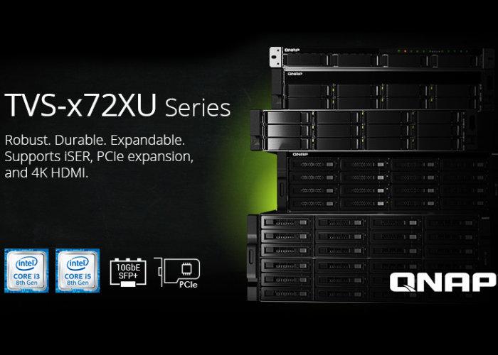 QNAP Rackmount TVS-x72XU NAS series