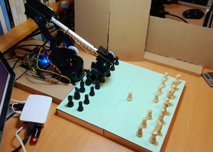 Raspberry Pi chess computer with awesome robotic arm - Geeky Gadgets