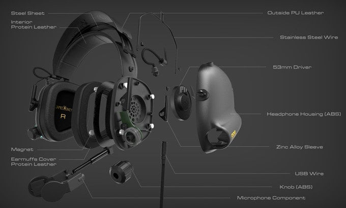 Tactical Master gaming headset